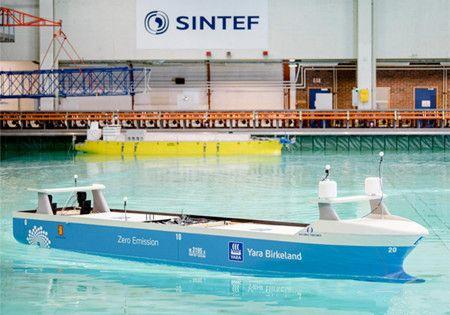 """全球首艘""""无人集装箱船""""进行测试"""