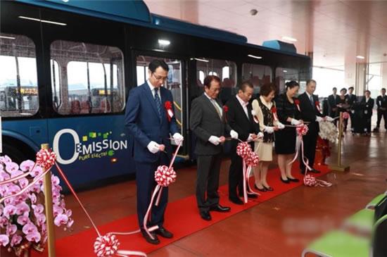 比亚迪在日本冲绳开创了首个电动大巴车队