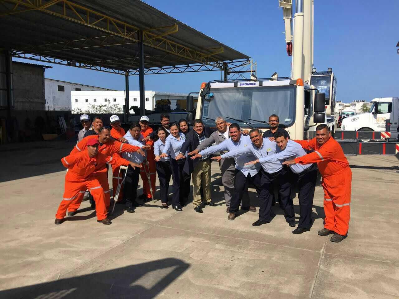 SINOMACH 起重机产品首次打入墨西哥市场