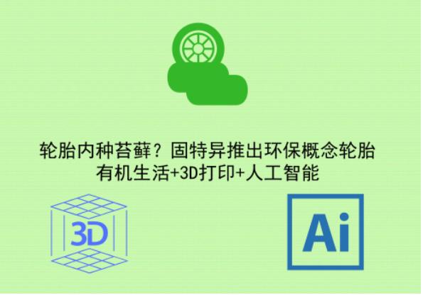 轮胎内种苔藓?固特异推出环保概念轮胎,有机生活+3D打印+人工智能