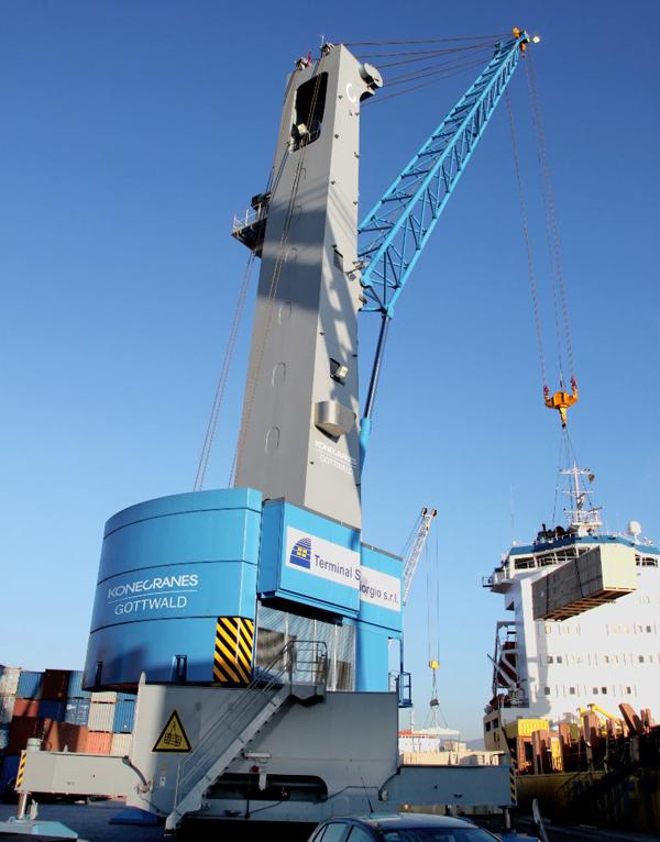 意大利多功能码头再次购入科尼Gottwald移动式港口起重机