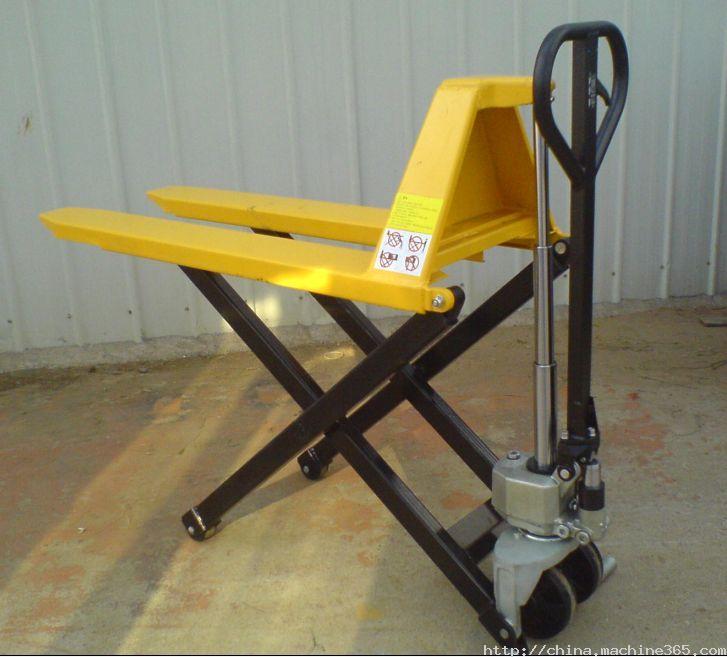 供应手动液压搬运车 jf高起升剪式搬运车图片