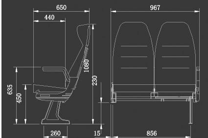 k系列车座位图