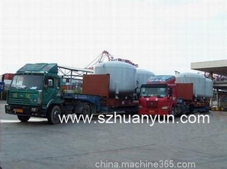 超高框架箱拖车运输