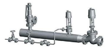 w型减温装置由蒸汽混合管道(带喷嘴),给水调节阀,节流阀,截止阀图片