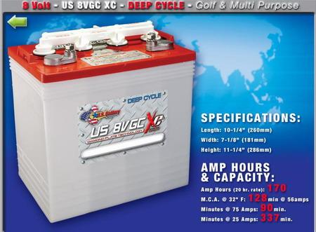EZGO进口球车电池US8VGCXC