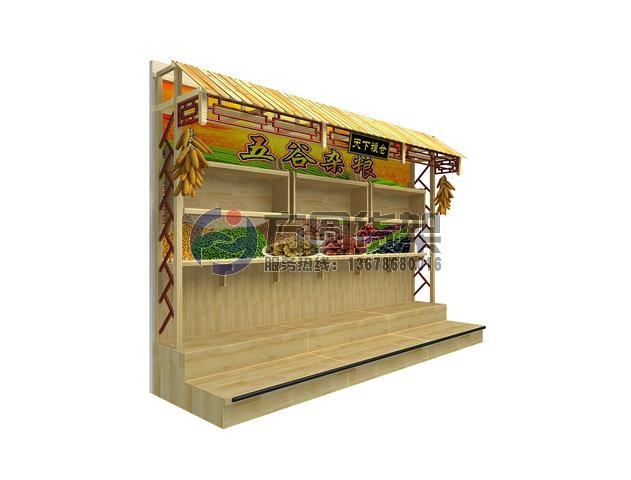 水果架-供应木制货架超市木质五谷杂粮货架-中华机