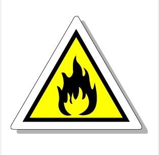 fi-k001等边三角形烟火标识警示标签安全标识