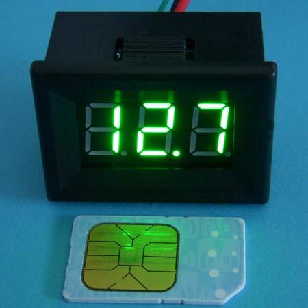 电动车/汽车蓄电池电量数字显示电压表 绿色