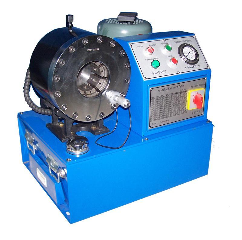 液压系统-供应工程机械-胶管扣压机-家辉机械-油管缩图片