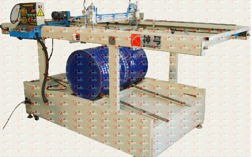 丝印机-供应钢桶专用桶标印刷机