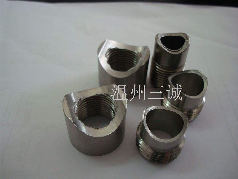 不锈钢焊管螺母月牙型螺母不锈钢半圆螺母管子焊接螺母冷墩螺母
