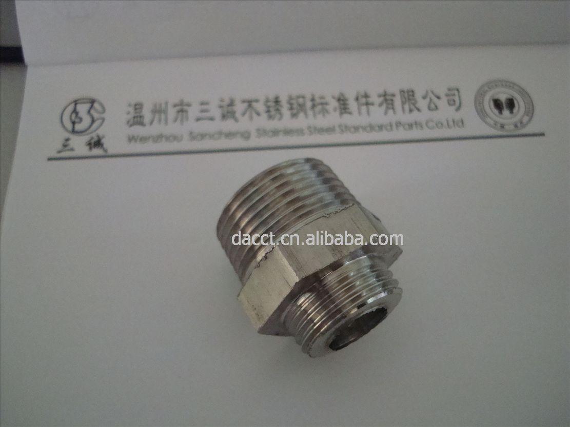 不锈钢气动接头对丝接头直通接头卡套式液压管接头气动管路接头