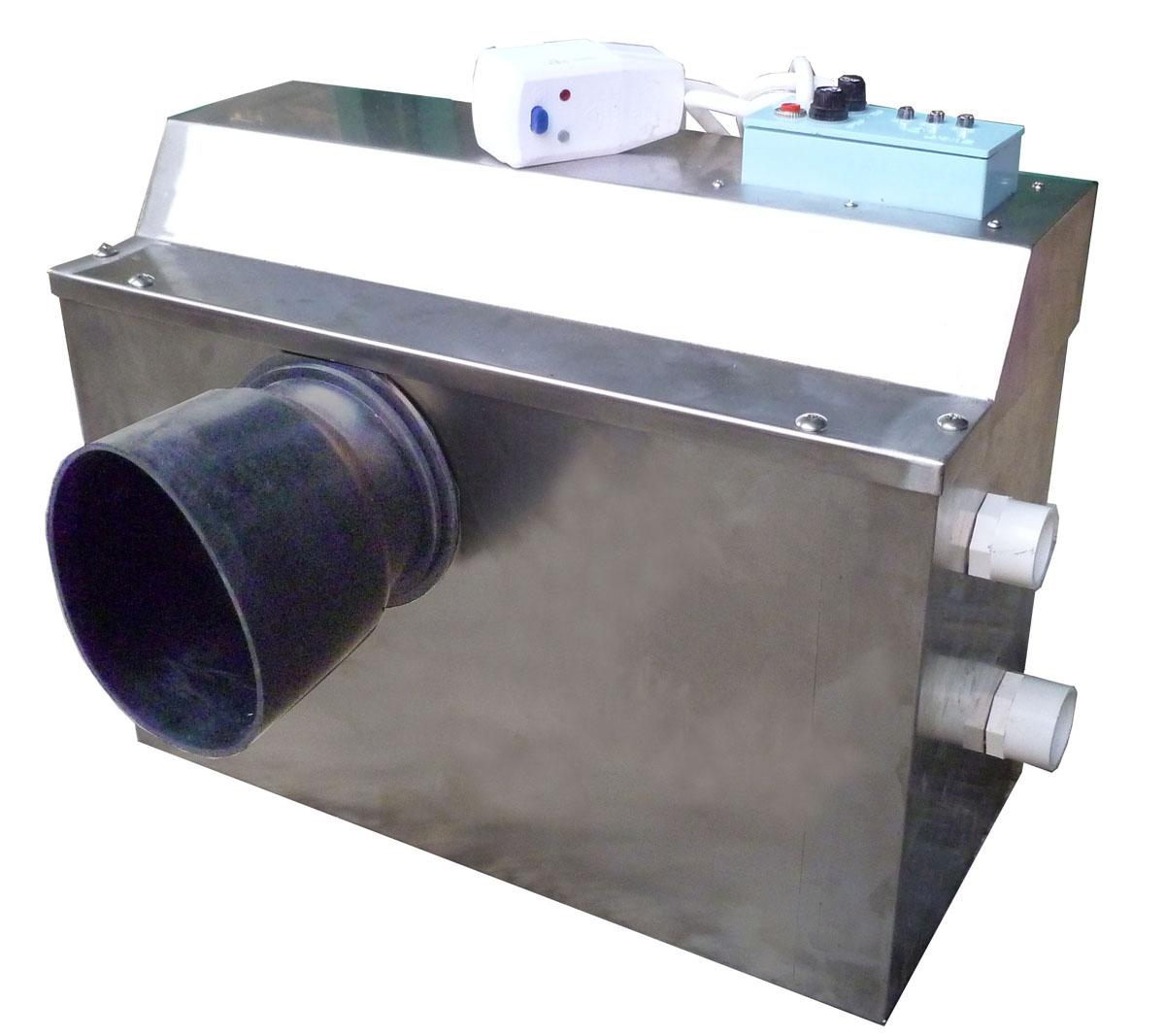 升级系统解决了:(1)将老式橡皮膜控制系统更换成污水非接触空气式控制系统;(2)增设了污水溢出声讯报警系统并强行打开副泵排出污水(这是其他泵种没有的功能);(3)解决了目前市场上电马桶系统中污水回流可能空转不排污水的真空问题。  (7系列双泵原理图) 二、主要技术数据: 1.
