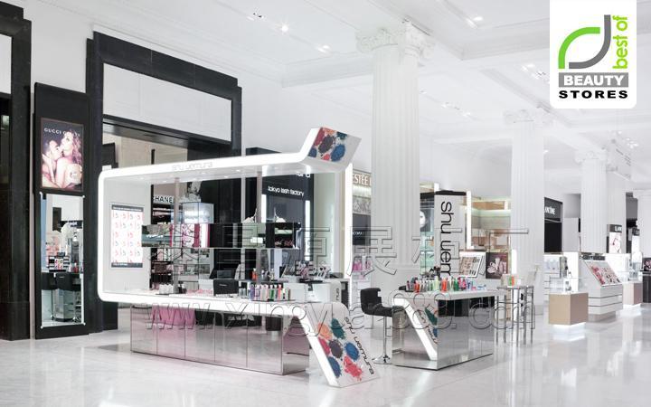 化妆品展示柜 化妆品店整体形象柜