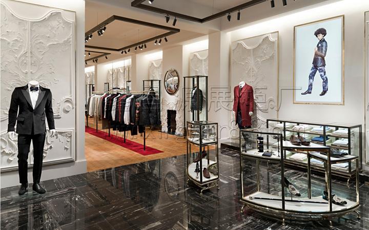 服装架子 衣服挂架 商场衣服货架定制 高端服装展示架 服装柜台
