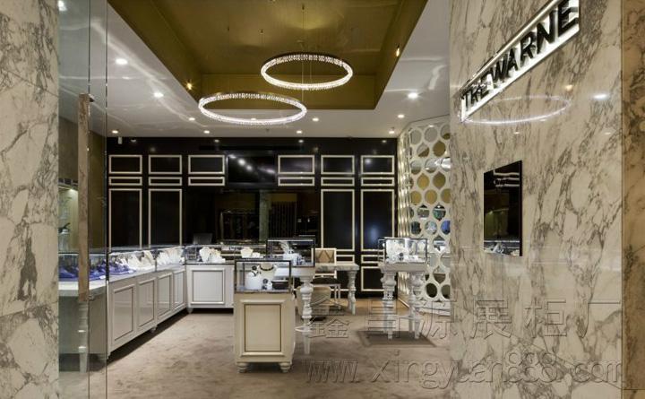 新款珠宝展览柜 商场首饰陈列柜定制 珠宝展台 珠宝展示架设计