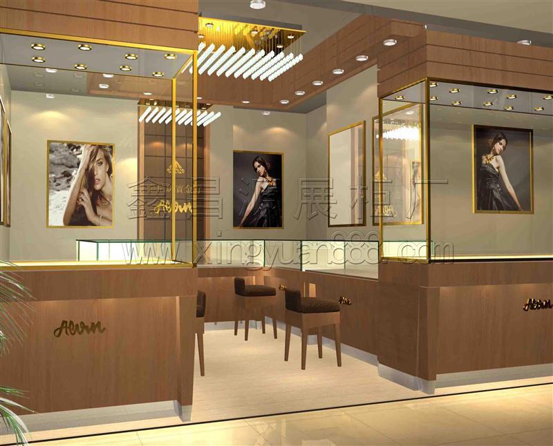 商场珠宝展示柜台定制
