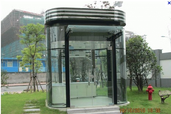 岗亭-供应西安钢结构玻璃保安岗亭-中华机械网