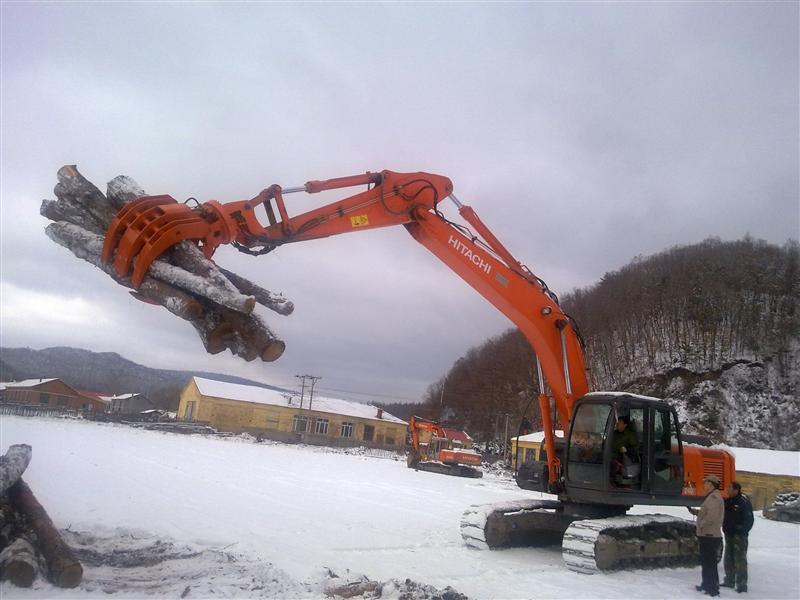 挖掘机抓木器(液压抓木器,机械式抓木器)图片