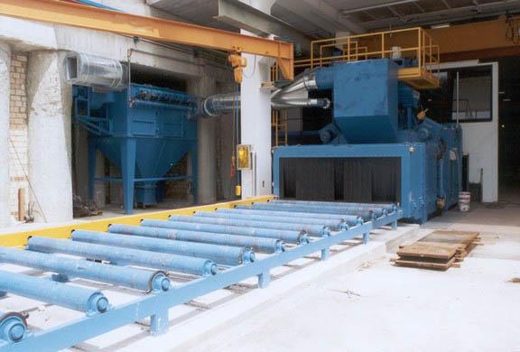 扁钢、圆钢、角钢、槽钢、方钢热镀锌前表面抛丸、喷砂除锈处理