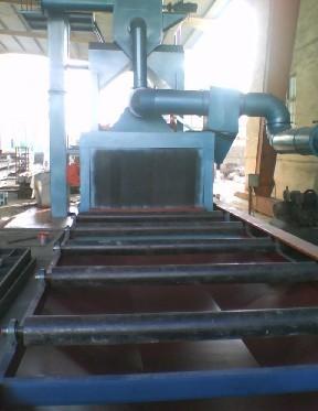 角钢、槽钢、钢管、圆钢、工字钢、螺纹钢热镀锌前抛丸除锈清理机