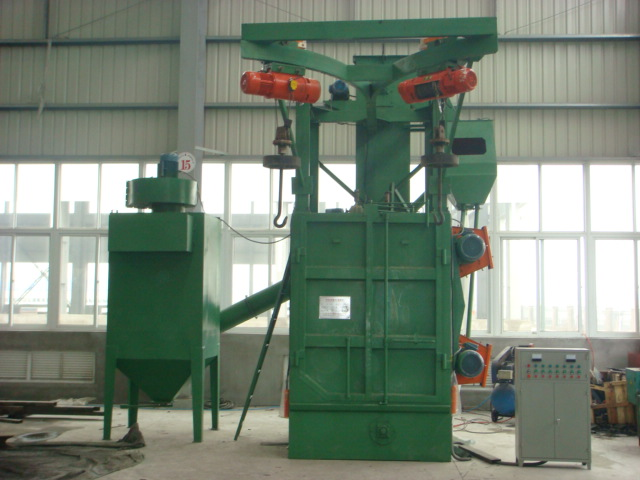 多元合金共渗前抛丸机进行表面除锈、氧化层清理