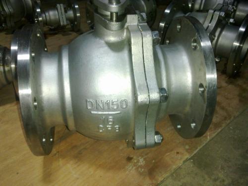 球阀 连接形式 法兰 材质  不锈钢 公称通径 100 适用介质   水 压力图片