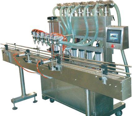 直线多头液体自动灌装机