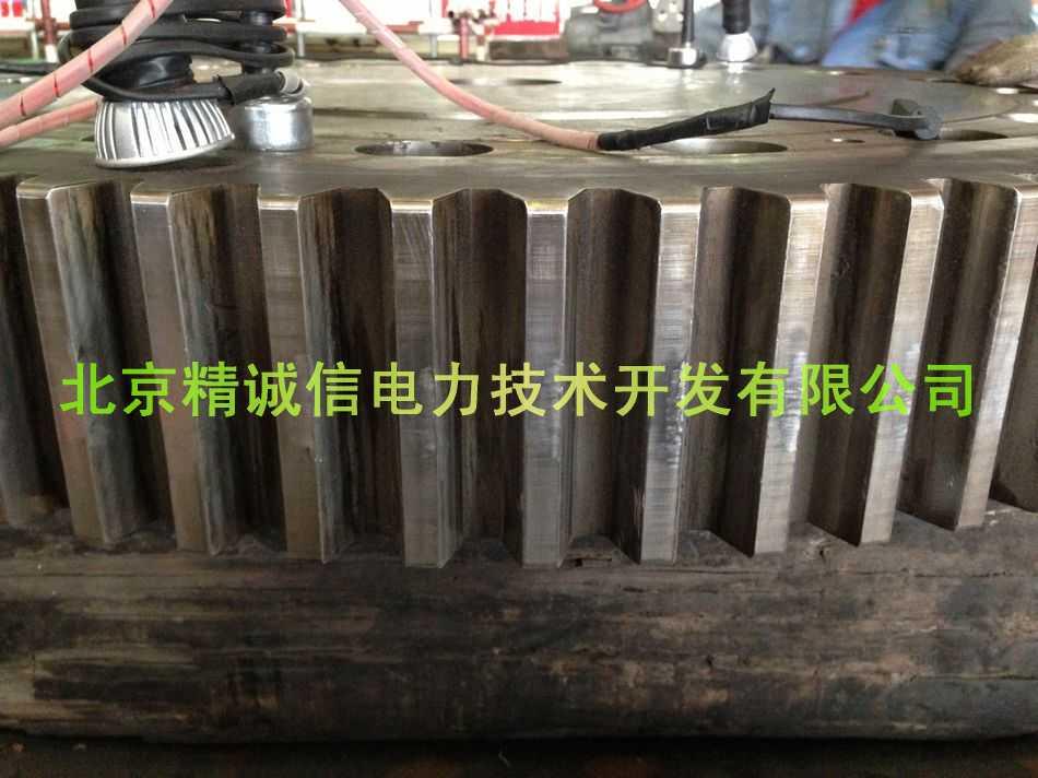 齿轮汽蚀冷焊修复
