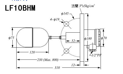 lf10bhm侧状浮球开关/lf系列浮球液位开关