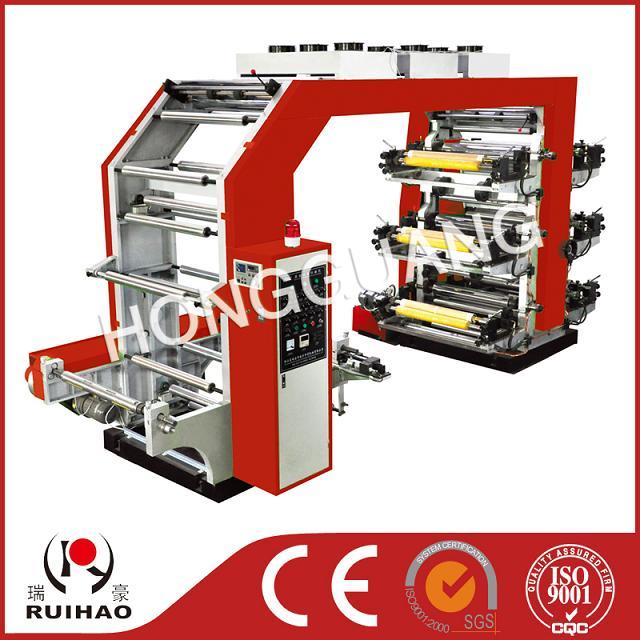 改进高速六色柔性凸版印刷机