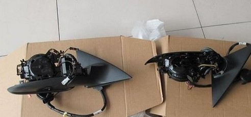 奥迪a6l加装电动折叠后视镜a6l改装电耳a6改装加装电动尾门