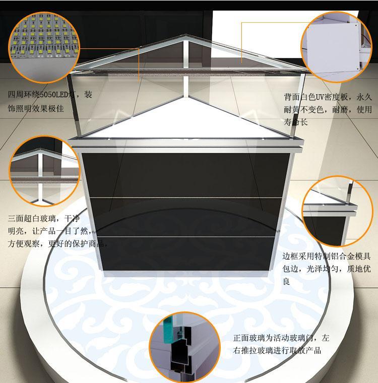 新款手机柜台小米苹果展示柜饰品陈列柜货架展示柜转角柜手机柜