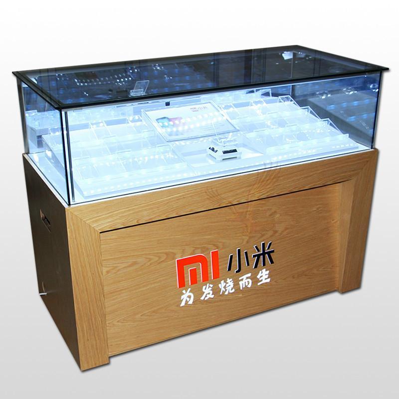 新款小米土豪金华为高端木纹体验台业务受理台配件柜手机展示柜台