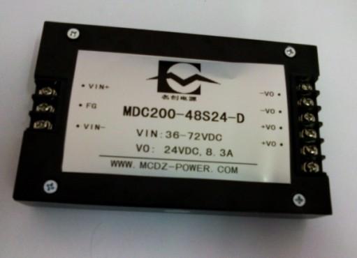 24V转24V控制器电源200W端子式模块电源厂家  型号:MDC200-24S24-