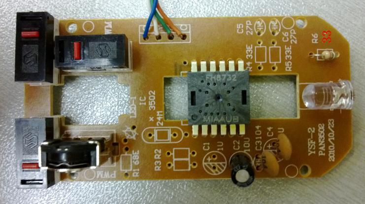新款无线鼠标芯片原相鼠标spd8762a ic