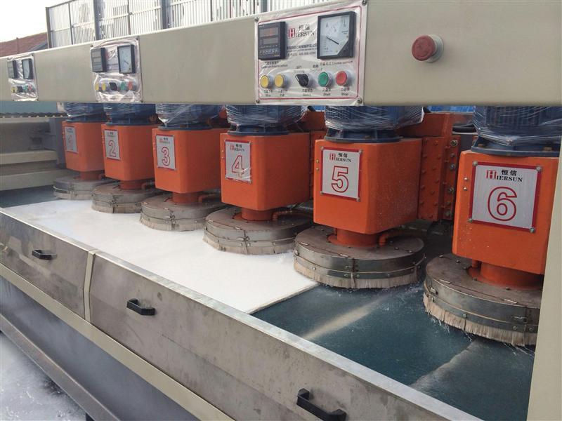 石英石机械设备--六头高效自动石英石定厚机,六高效自动石英石定