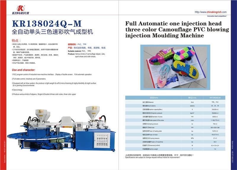 全自动单头三色迷彩吹气成型机(MR138024Q-M)