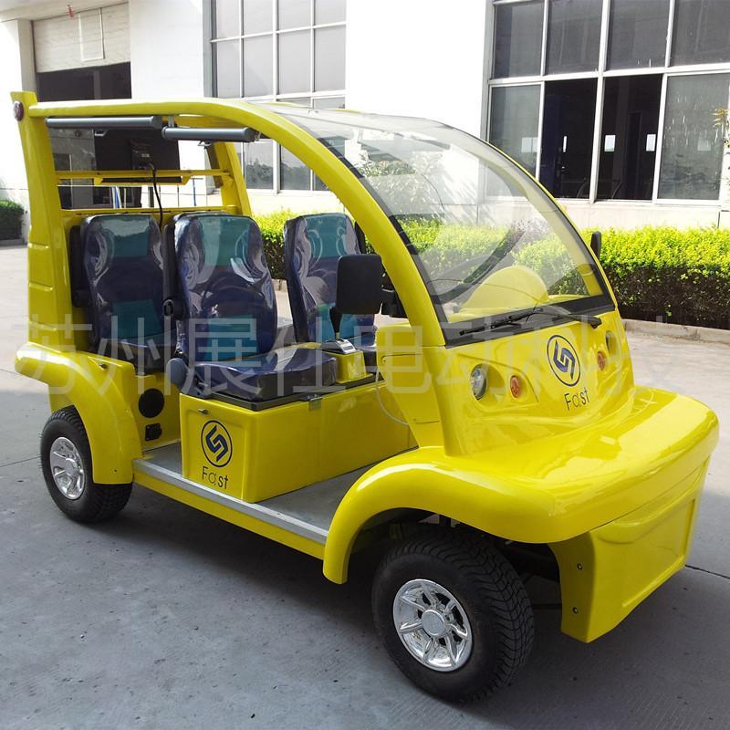 上海厂家直销4座电动观光车 景区游览车 楼盘看房车