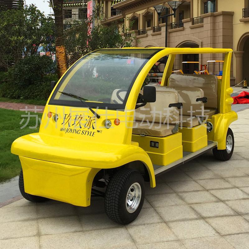 无锡6座电动观光车 校园工厂游览车 休闲代步车