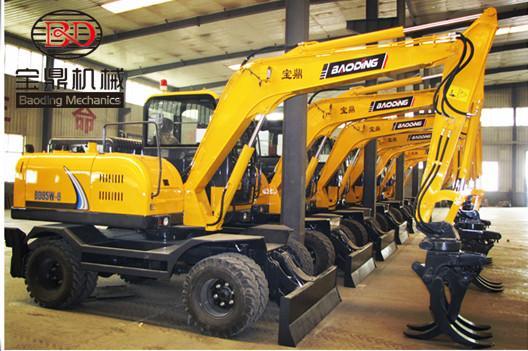 国产小型挖掘机排名_装载机械-供应国产小型挖掘机抓木机就选宝鼎-垂直机械网