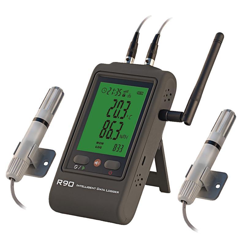 WiFi无线双温湿度记录仪R90-DX-W