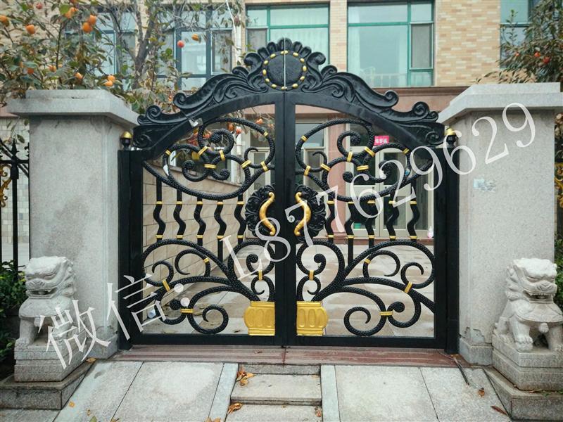 铁艺大门|庭院门大门欧式大门,平开门推拉门围墙大门别墅门对开