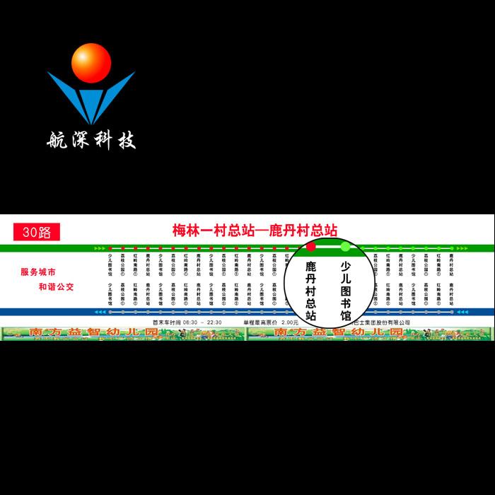 航深科技 公交车LED站节牌