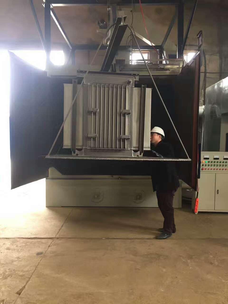 油浸式电力变压器喷粉前抛丸喷砂机除锈除氧化皮清理,增加附着力