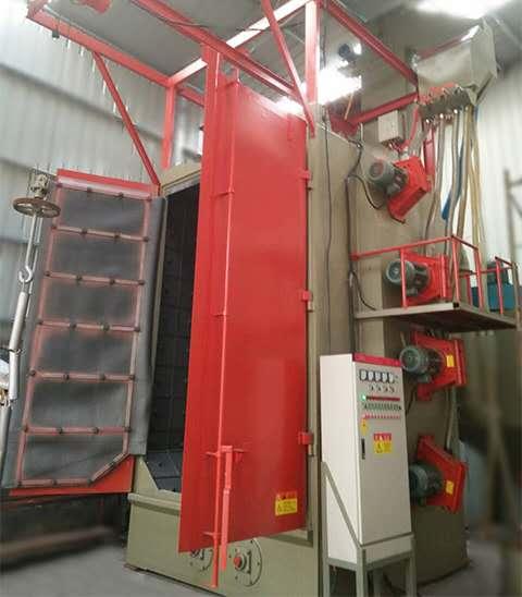 造纸机械焊接件喷涂前抛丸喷砂除锈除氧化皮清理机,增加附着力,
