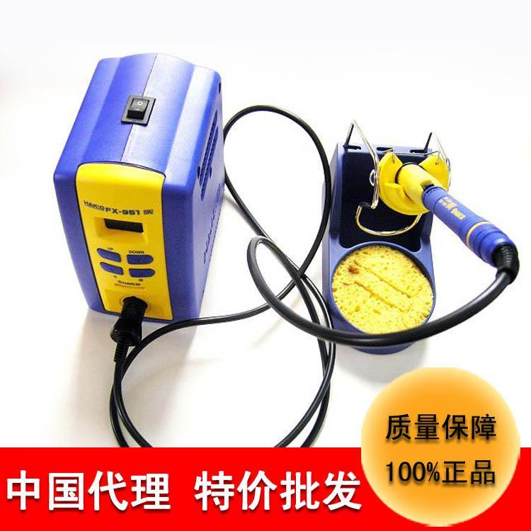 特价批发深圳白光电烙铁焊台fx-951智能温控防静电无铅焊锡台220v