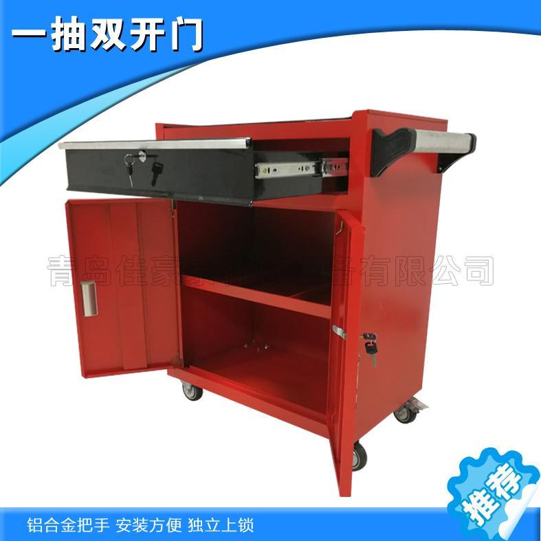 黟县生产五金车间工具柜 红色三层零件车 汽修机械车间高效便捷