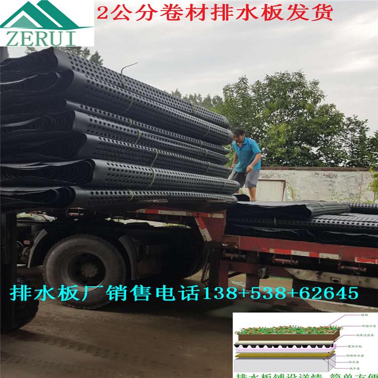 求购   成块+卷材排水板厚度四平车库顶板滤水板供应